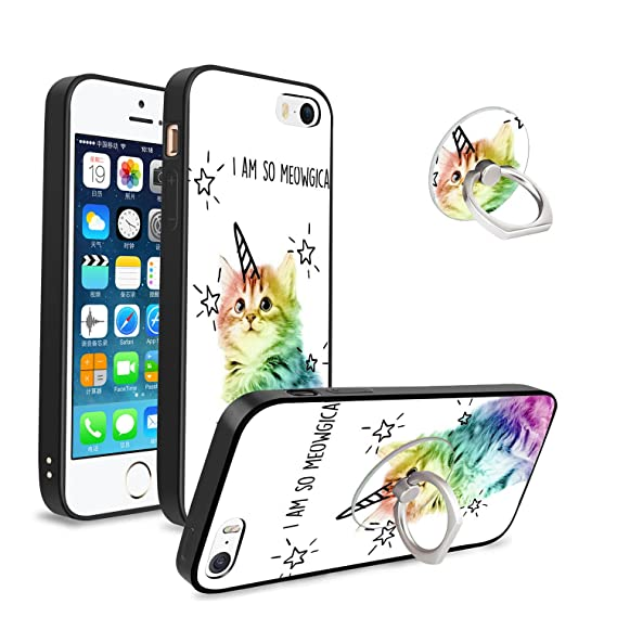 on sale acdf0 90686 iPhone 5/5S/SE Unicorn Case, Customizable Shockproof Anti-Scratch  Protective Case with Phone Holder for iPhone 5/5S/SE,Great Present for Your  Family, ...