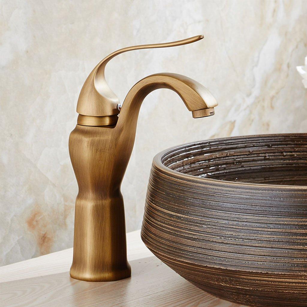 CHENGYI European Retro Basin Mixer High-end Fashion Creative Antique Hot and Cold Faucet