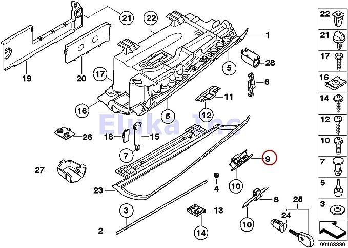 For BMW 525i 530i 545i 525xi 550i M5 528xi 535i Black Glove Box Latch Handle