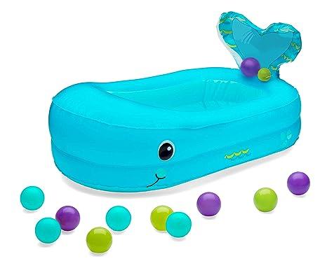 Infantino 205016 - Bañera hinchable de ballena con bolas para ...