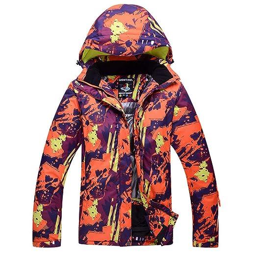Chaqueta de esquí para Hombre, Abrigo Impermeable para Nieve, Ropa ...