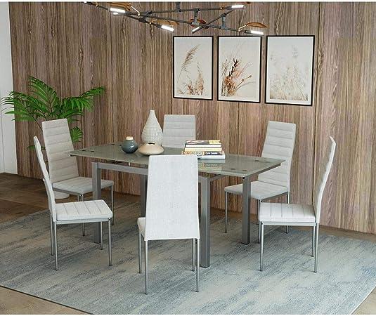 Mobilier Deco Table A Manger En Verre Avec 2 Rallonges Extensible
