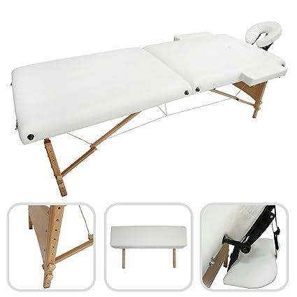 Todeco - Mesa de Masajes Plegable, Mesa de Terapia Profesional - Tamaño: 186 x