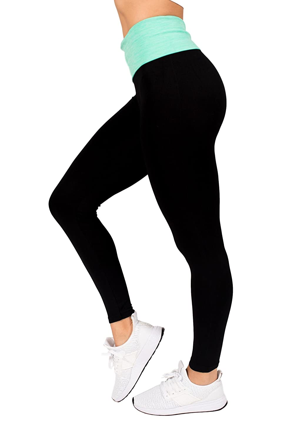 e52c4978d9ef3e Elan Verve Fitness Active Womens Light-Weight High Waisted Workout Yoga  Legging Pants by RAG (Small/Medium, Green) at Amazon Women's Clothing store: