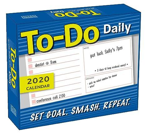 Do Not Call List 2020.To Do Daily 2020 Calendar Set Goal Smash Repeat