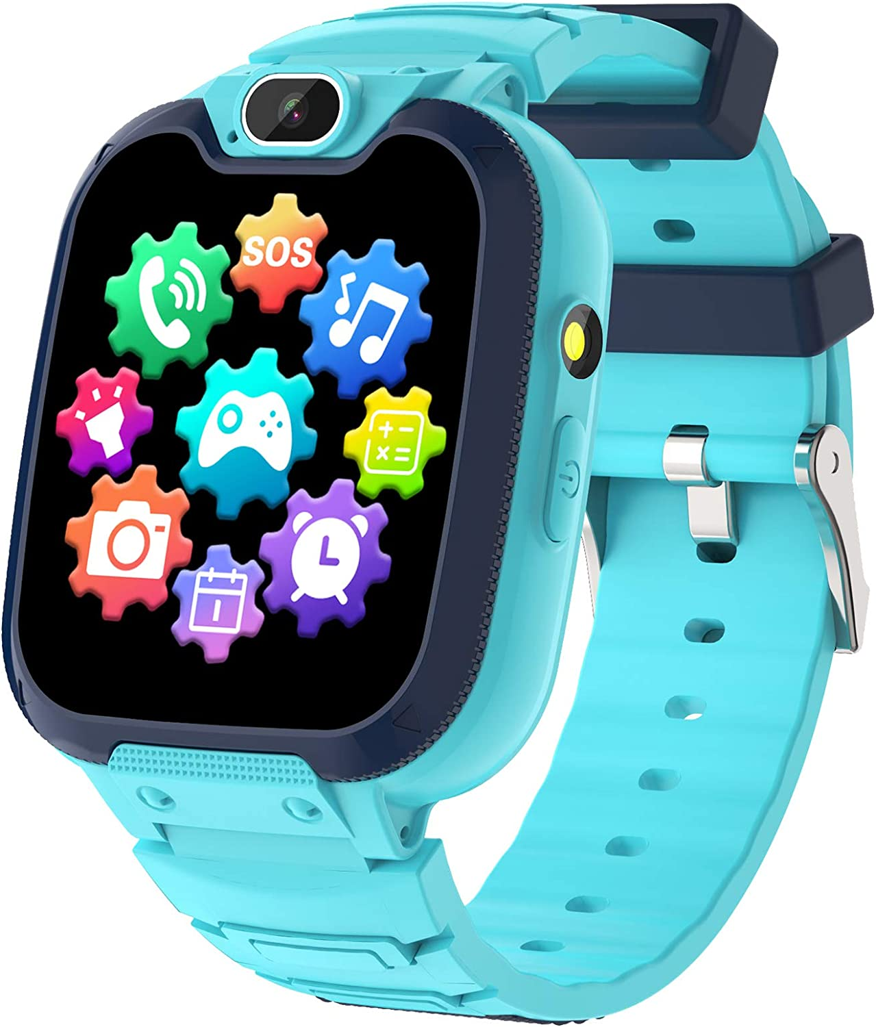 Kids Smart Watch for Boys Girls - Kids Phone Smartwatch with Calls 14 Games S0S Camera Video Music Player Clock Calculator Flashlight Touch Screen Children Smart Watch Gifts for Kids Age 4-12 (Blue)