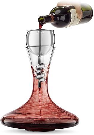 Aireador y decantador de vino tinto de acero inoxidable Final Touch