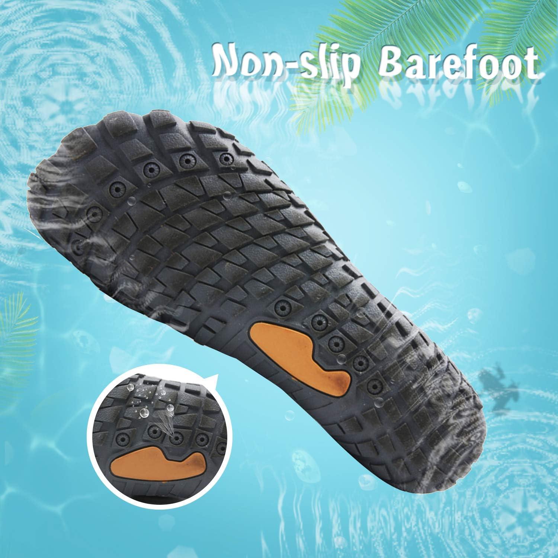 Mabove Chaussures Aquatiques Homme Femme Chaussures deau Chaussures de Piscine et Plage Chaussures de Plong/ée Chaussures de Nager pour Sport Aquatique Surf Natation Kayak Yoga