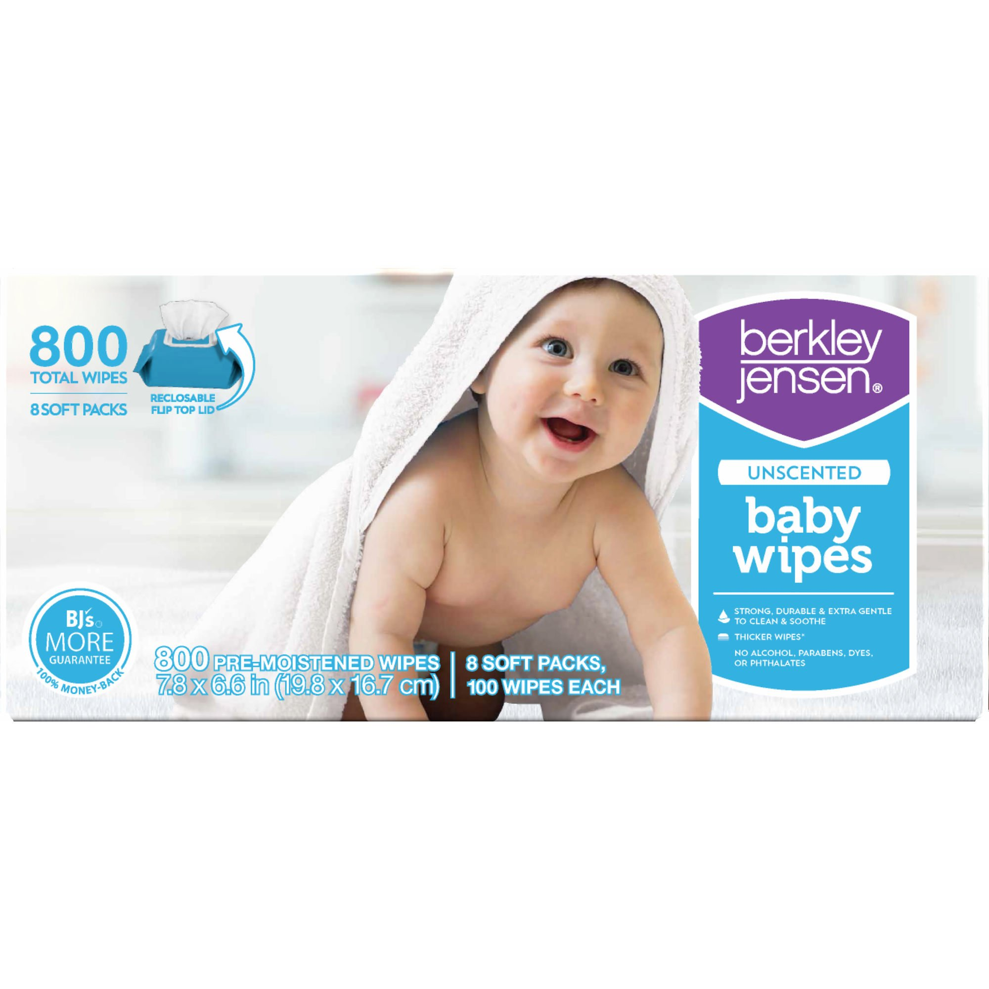 Berkley Jensen Unscented Baby Wipes, 800 ct.