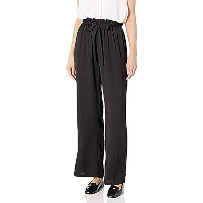 A. Byer Women's Juniors Wide Leg Elastic Waist Comfortable Pants: Clothing