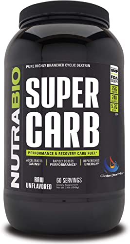 NutraBio Super Carb Unflavored, 60 Servings