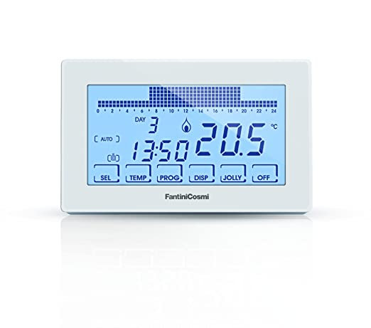 FANTINI COSMI, CH180 Digital Clock Thermostat with Backlit ...