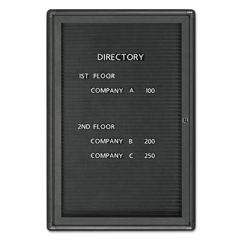 Enclosed Magnetic Directory, 24 X 36, Black Surface, Graphite Aluminum Frame By: Quartet