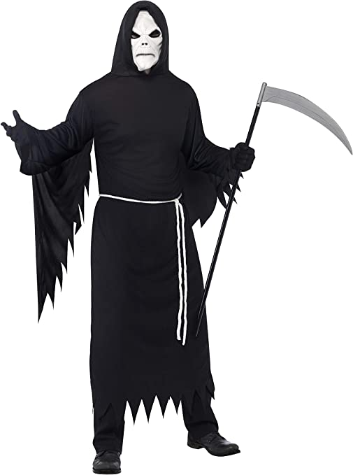 Smiffys-21764M Disfraz de La Muerte, con túnica con Capucha ...