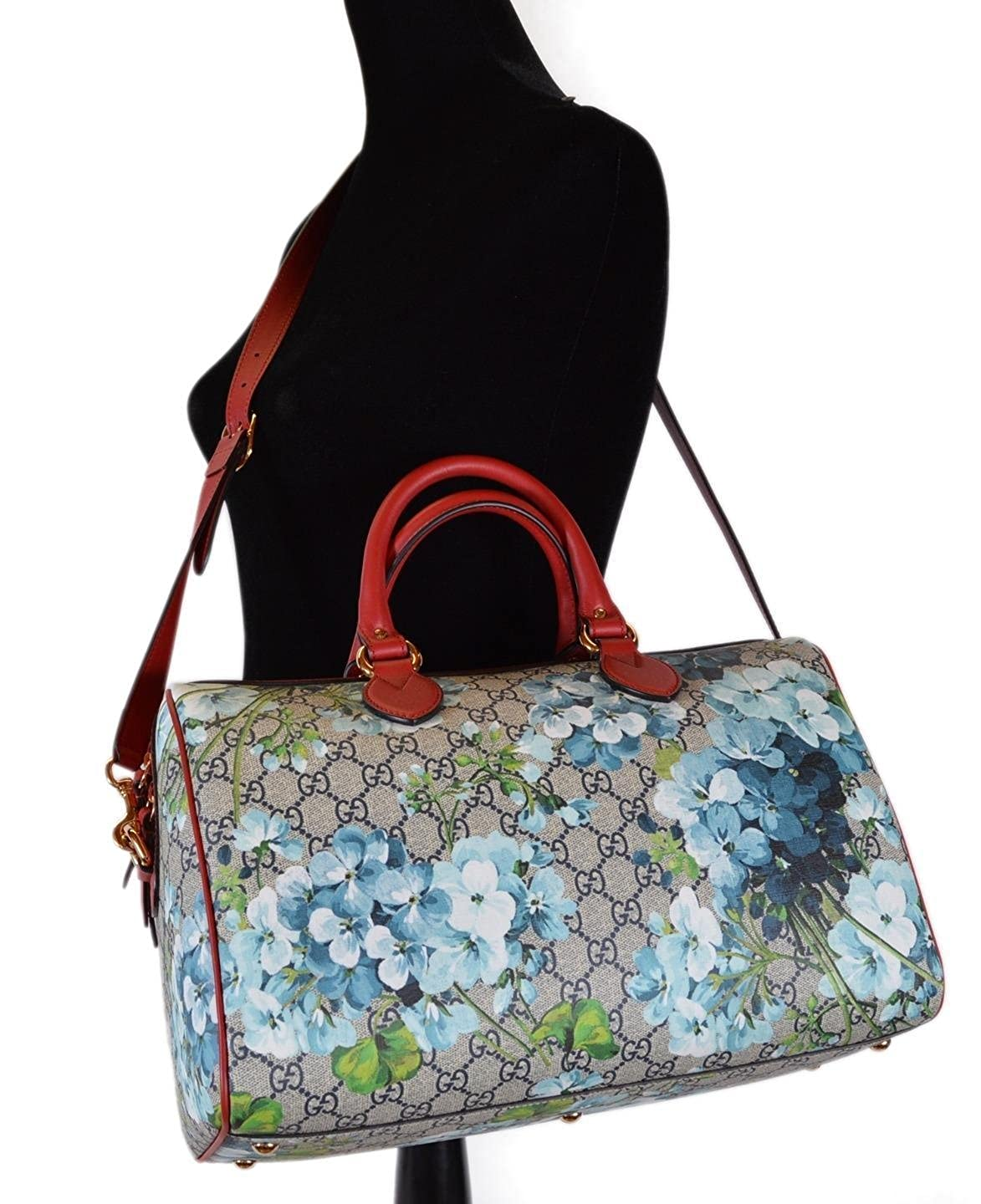 51c02dfdef46be Amazon.com: Gucci Women's GG Supreme BLOOMS Convertible Boston Bag: Shoes