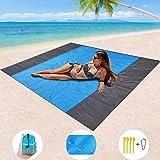 Mumu Sugar Sand Free Beach Blanket, Extra Large Waterproof Beach Mat-Lightweight Quick Drying Heat Resistant Outdoor…