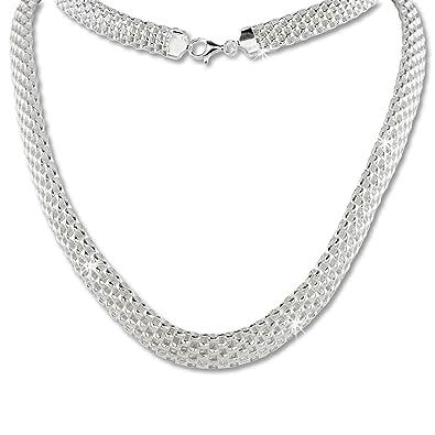 Halskette silber matt