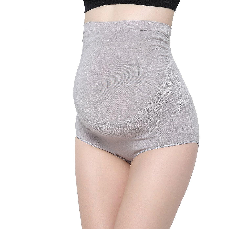Ultra Haute Taille Super/élastiques Culotte Enceintes Briefs de la Femme KUCI Maternit/é de Grossesse Culotte sous-v/êtements en Fibre de Bambou Maternit/é