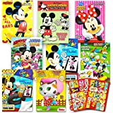 Disney Coloring Books For Kids Toddlers Bulk Set -- 8 Books and Sticker Pack (Mickey Mouse, Minnie Mouse and More!)