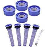 Mochenli 8 Pack Filter Replacement Kit Compatible with Dyson V7, V8 Animal and Absolute Cordless Vacuum, 4 Post-Filter & 4 Pr