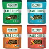 Rhythm Superfoods Kale Chips, Variety Pack, Organic & Non-GMO, 2 oz, 4 Count