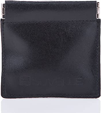 NEW   COIN WALLET Pebbled Calfskin Leather Change Holder HAND MADE  Black GIFT