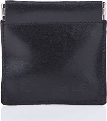 Suvelle Mens Genuine Leather Facile Squeeze Coin Pouch Change Purse Holder Wallet WS616