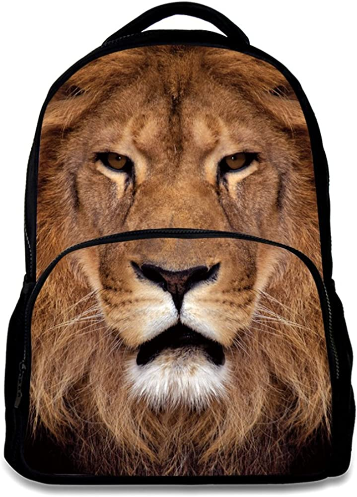 Animal School Bag,School College Backpack,Teenagers Casual Daypack,17 Inch Laptop Backpack for Men