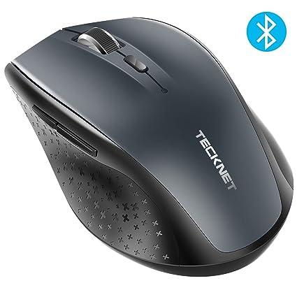 6009e7623ee Amazon.com: TeckNet Bluetooth Wireless Mouse, Grey (BM308): Computers &  Accessories