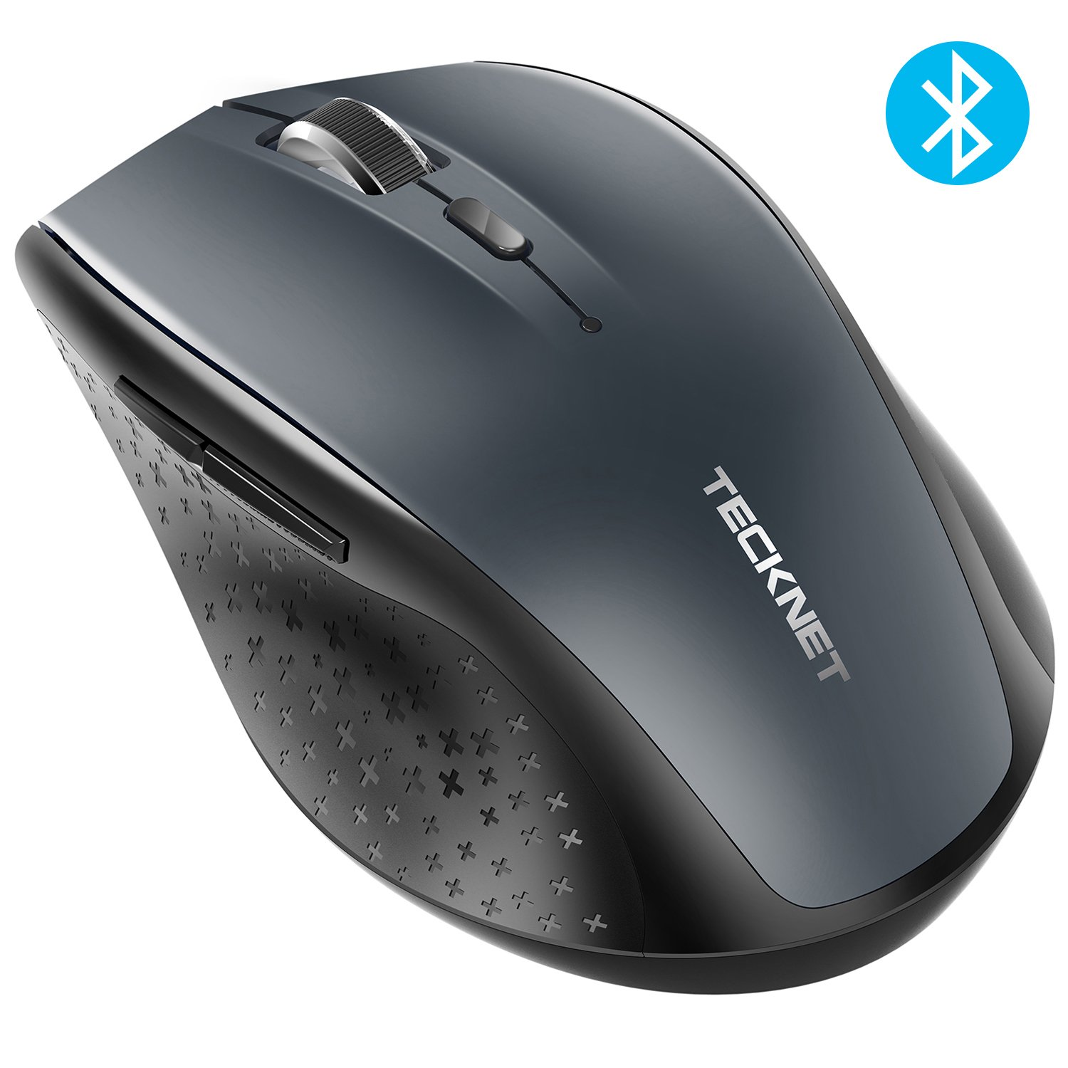 TeckNet Bluetooth Wireless Mouse, Grey (BM308) by TECKNET