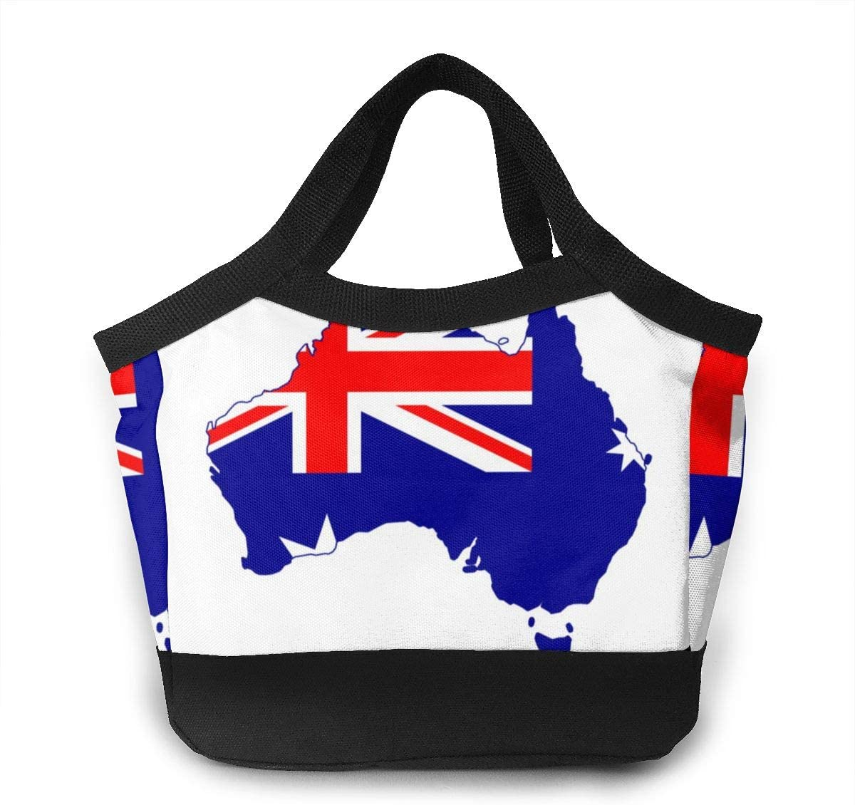 Large Lunch Bag For Women Customized Australian Flag Fabulous Water-resistant Cooler Lunch Tote Box Food Insulated Bags For Work/Office/Beach Fishing/Picnic