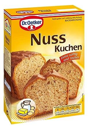 Dr Oetker Backmischung Nuss Kuchen 520g Packung Amazon De