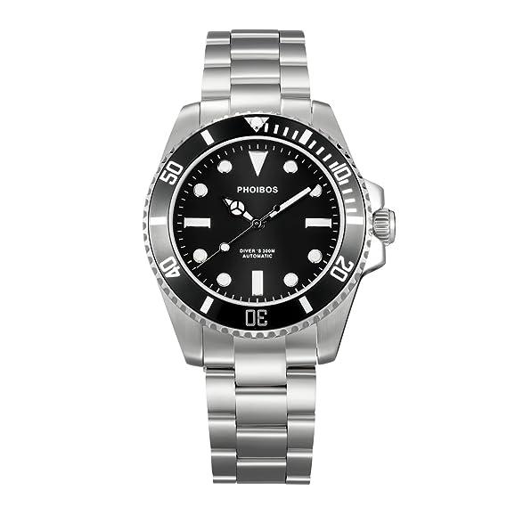 Phoibos gran blanco py006 C 300 M Diver reloj automático, color negro
