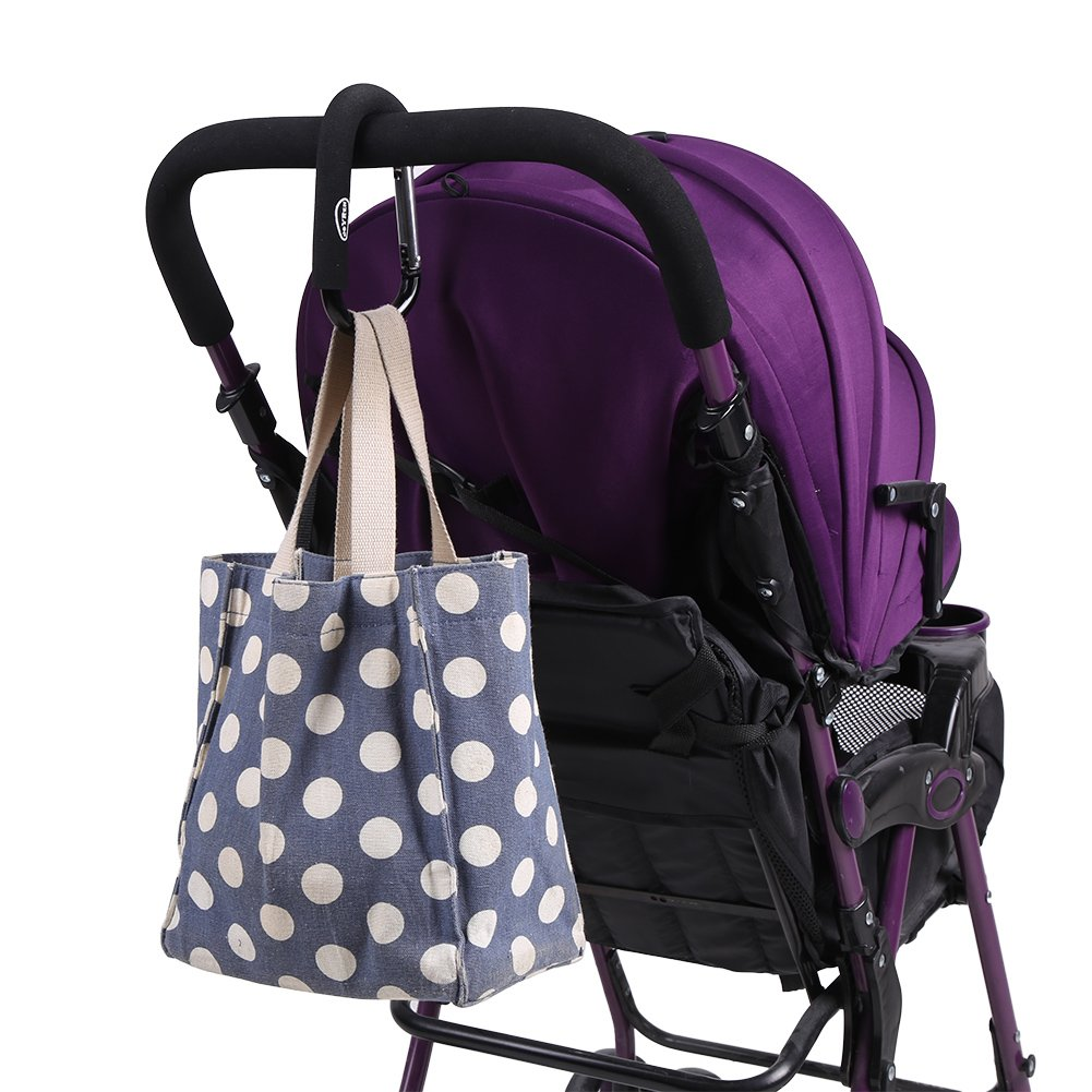 Zerodis Kinderwagen Haken Buggy Zubeh/ör f/ür Einkaufst/üten Taschen Wickeltasche Aluminiumlegierung