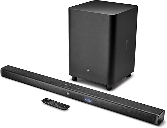 JBL BAR 3.1 Surround, Barra de Sonido 3.1 Ultra HD 4k con Subwoofer inalámbrico para tv y pc, una experiencia de inmersión de sonido, color negro