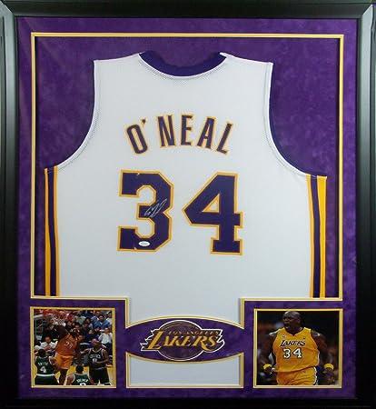 e1bd51c3d5b Shaq O'Neal Framed Jersey Signed JSA Autographed L.A. Lakers Heat LSU  Shaquille