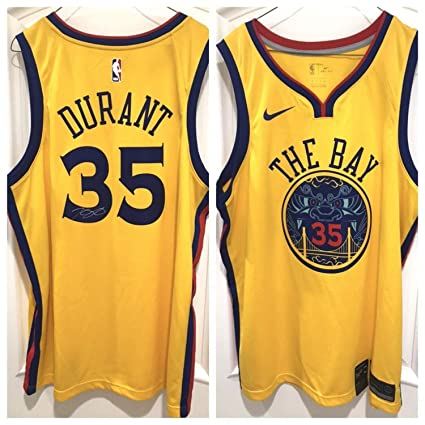 buy popular 43d19 14879 Kevin Durant Autographed Signed Warriors The Bay Swingman ...