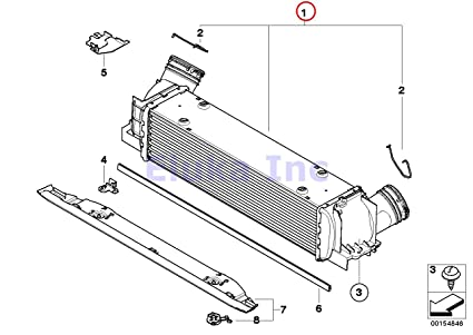 bmw genuine turbo charger air cooler intercooler 135i m coup� x1 35ix 135i  z4 35i z4