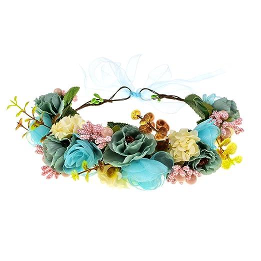 DreamLily Maternity Woodland Photo Shoot Headpiece Roses Flower Crown Peony  Hair Wreath NC06 (1  f953de6b7e3