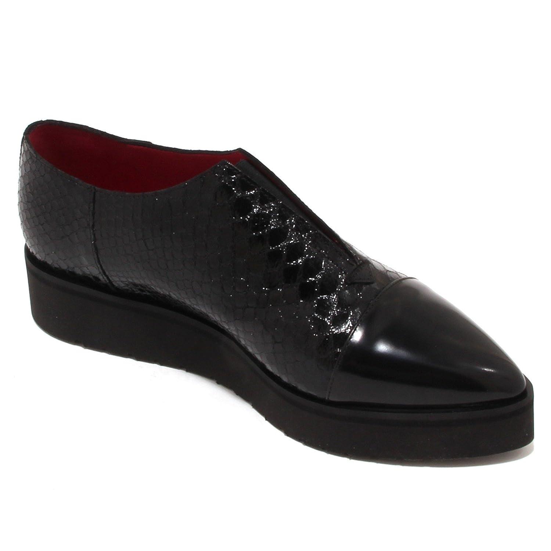 4224P scarpa senza lacci zeppa UNO 8 UNO nero scarpa donna shoe woman [38] TY9pGbn