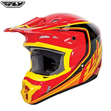 Fly Kinetic Fullspeed adulto Off Road MX Enduro casco (rojo/negro/amarillo)