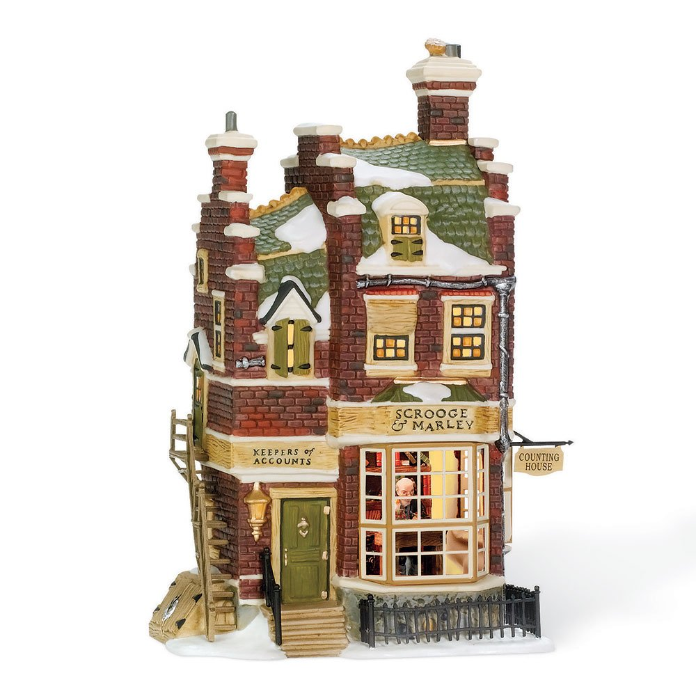 Department 56 Dickens' Village Scrooge and Marley Counting House Lit Building by Department 56