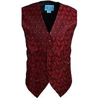 Epoint EGC1B01-03 Multi Mens Paisley Waistcoat Woven Microfiber S-3XL Vest By