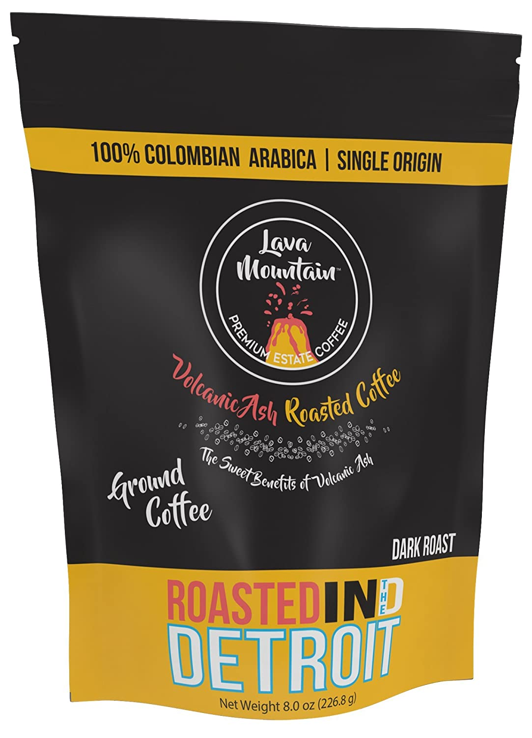 Lava Mountain Single Origin Colombia 8 oz Ground Coffee, Dark Roast Image