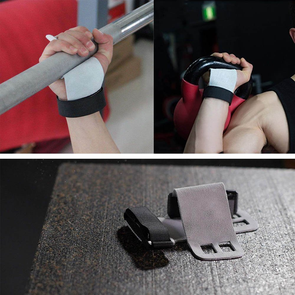 Ximimark Leather Palm Hand Grips Protector with Wrist Support,Great for Gymnastics,Pull up,Weight Lifting,Chin Ups,Kettlebells and CrossFit Training