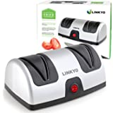 LINKYO Knife Sharpener (Electric) featuring Automatic Blade Positioning Guides - 2 Stage Knife Sharpening System