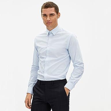 Celio Fapopeline, Camisa Para Hombre, Azul (LIGHT BLUE 01), M ...
