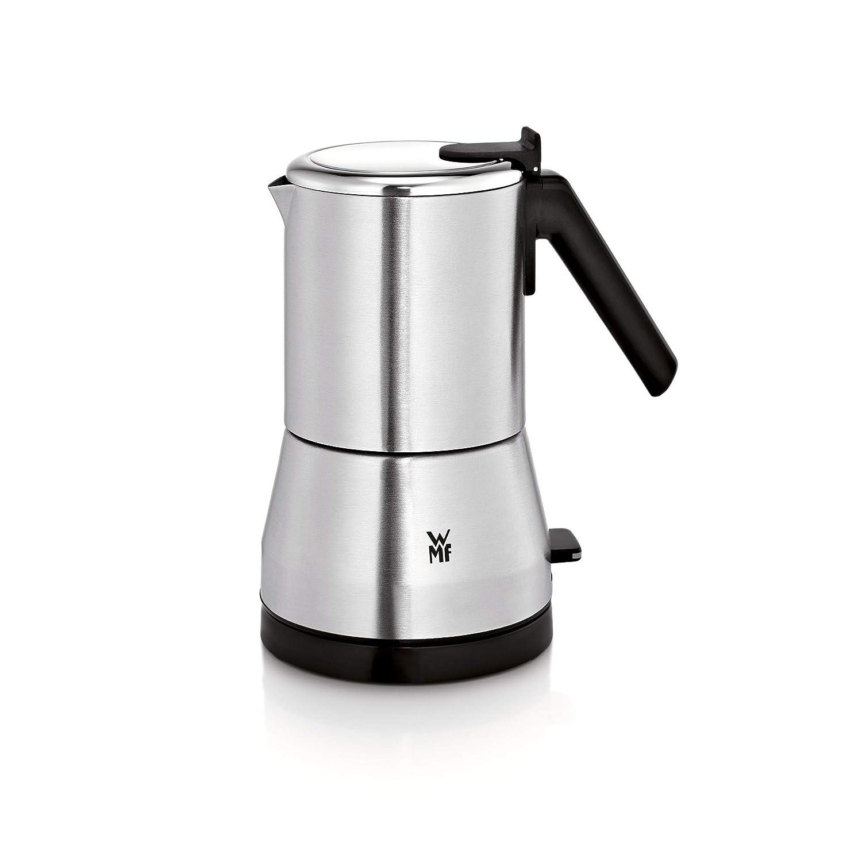 WMF Küchenminis Edition Espressokocher (400 W, elektrisch, für 2 oder 4 Tassen, platzsparend, cromargan) matt/silber für 2 oder 4 Tassen 0412410012