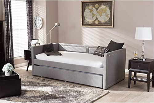 Baxton Studio Raymond Modern and Contemporary Nail Heads Trimmed Sofa Daybed