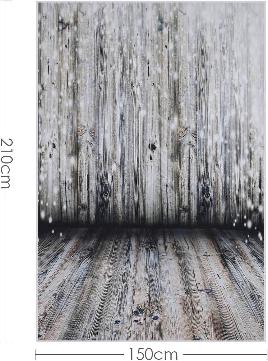 hongxinq Vinyl Photo Backdrop Wooden Floor Studio Photography Background Backdrop 5x7FT